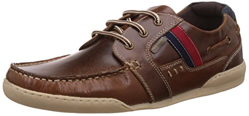 Red Tape Men's Brown Leather Sneakers (RTS7032B) - 7 UK