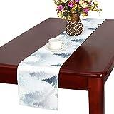 JINCAII Fichte Wald Nebel Tischläufer, Küche Esstisch Läufer 16 X 72 Zoll für Dinnerpartys, Veranstaltungen, Dekor