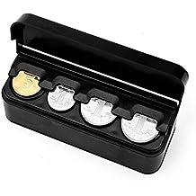 Alftek - Organizador automático de Monedas con Monedero, Soporte para Monedas, capsulas de Caja