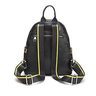 Frauen Rucksack Oxford Tuch alle Jahreszeiten Casual Runde Reißverschluss Gelb Schwarz Yellow