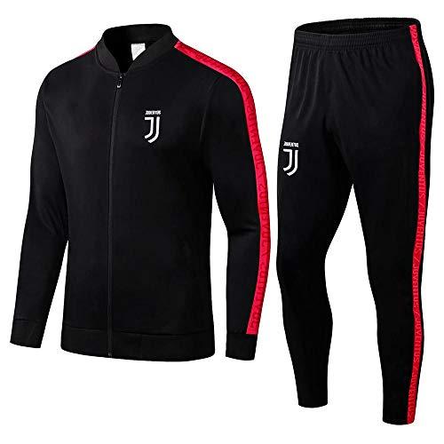ZuanShiDaHeng 19-20 Erwachsene Sportswear Jacke Anzug Geschenk Herren Sportswear Full Zipper Fitness Fußballtraining Warm-Up Anzug Schwarz @ Photo Color_M
