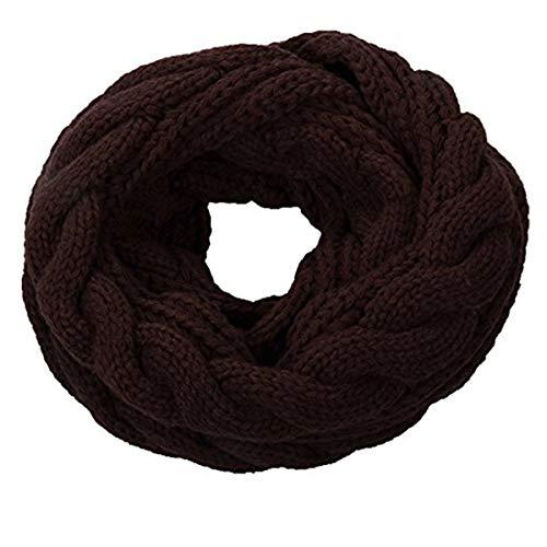 TickTocking Damen Schal Gr. One Size, Twist Dark Chocolate -