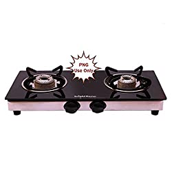 brightflame 2 Burner Glass Top PNG Gas Stove