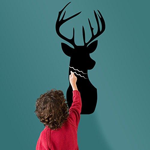 cabeza-de-ciervo-negro-texto-board-pizarra-pared-adhesivo-pvc-murales-vinilo-casa-papel-casa-decorac