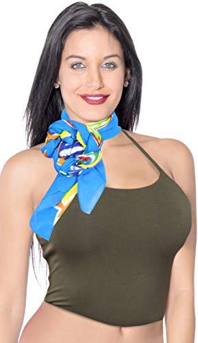 LA LEELA Frauen Strand Bikini Sarong Wickeln Schal Pareo Fisch Schildkröte verschleiern Wickelrock Mehrzweck Schiere Kleid gedruckt Blau_X1136 43