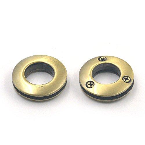 51025PCS Tüllen Legierung Ösen 14mm 1,4cm Leinwand Unterstützung Schraube, selbstklebend, Leder Geldbörse Schnalle bronze