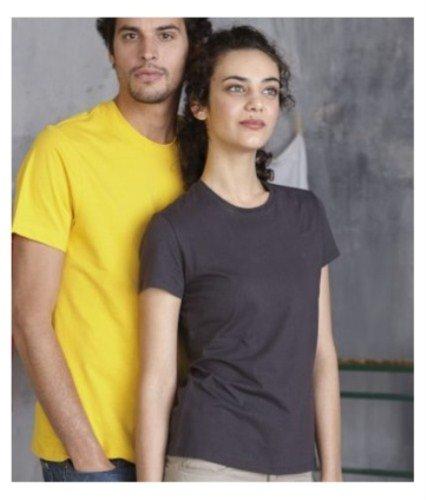 Kariban Damen T-Shirt mit Rundhalsausschnitt Dunkelgrau