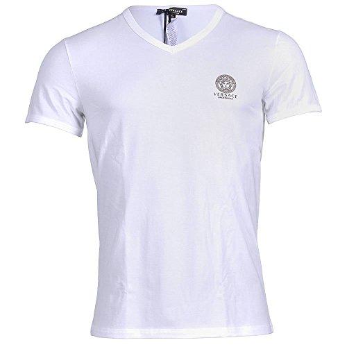 Versace Herren T-Shirt weiß weiß Gr. L, weiß