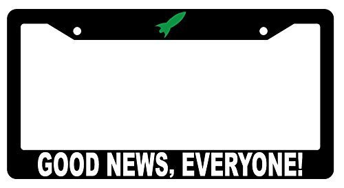 Superlicenseframe Personalisierbarer Nummernschild-Rahmen, personalisierbar für Nummernschild, Neuheit Auto Tag Schminkgeschenk, Good News Everyone