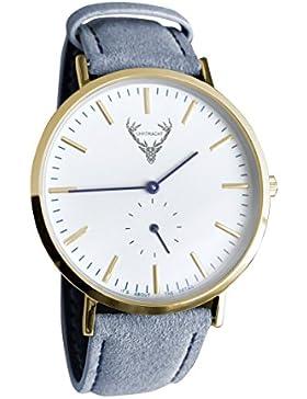 UHRTRACHT - Uhr in gold mit Wildleder, verschiedene Varianten mit Quick Release - passend zur Tracht und im Alltag...
