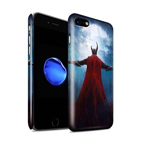 Offiziell Chris Cold Hülle / Glanz Snap-On Case für Apple iPhone 7 / Dunkelste Stunde Muster / Dämonisches Tier Kollektion Dunkelste Stunde