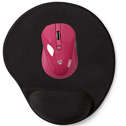 TronicXL Kabellose USB Maus Mauspad ergonomisch Set Design für Computer Pc Desktop zb kompatibel mit Lenovo HP Dell Acer Asus Medion Windows Mac Optical ergonomische kabellos (Rosa) -