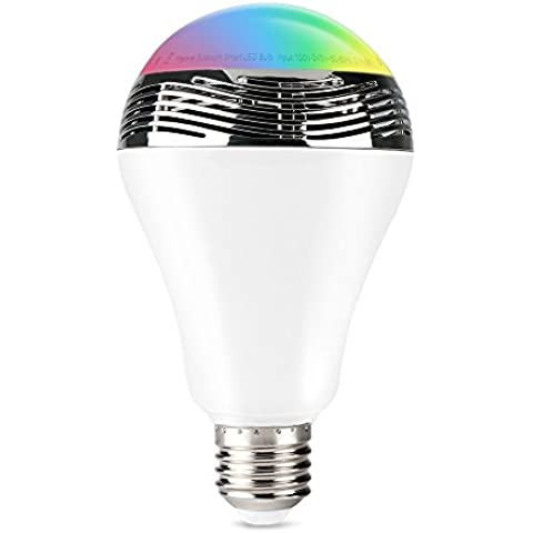 1byone inalámbrica Bluetooth 4.0 Altavoz Bombilla de luz LED multicolor regulable Con la aplicación gratuita controlada, cambiar LED de 16 millones de color ,compartible con iPhone, iPad o teléfono Android