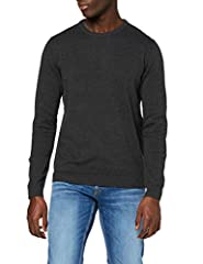 Idea Regalo - JACK & JONES Jjebasic Knit Crew Neck Noos Felpa, Grigio Dark Grey Melange), Large Uomo