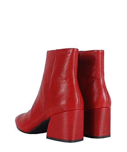 Vagabond Olivia Boots Red - Stivaletti Da Donna Rossi In Pelle Red