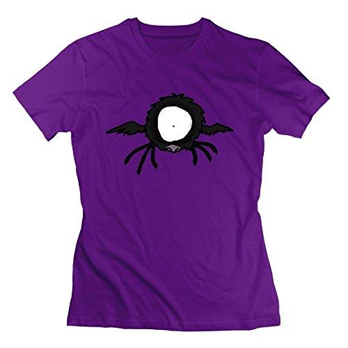 Nana-Custom Tees Damen T-Shirt Gr. M, Schwarz - Violett
