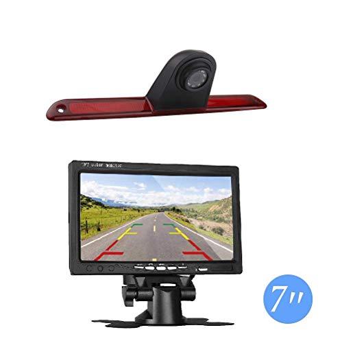 """Dachkante Einparkhilfe Rückfahrkamera integriert in 3. Bremsleuchte Kamera für Mercedes W906 Sprinter VW Crafter Transporter + 7.0\"""" Zoll DVD Monitor TFT Bildschirm Rückfahrkamera LKW KFZ LCD Display"""
