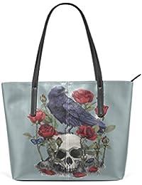 Skull n Roses Tattoo Streifen Totenkopf Bowling Tasche v. Liquor Brand