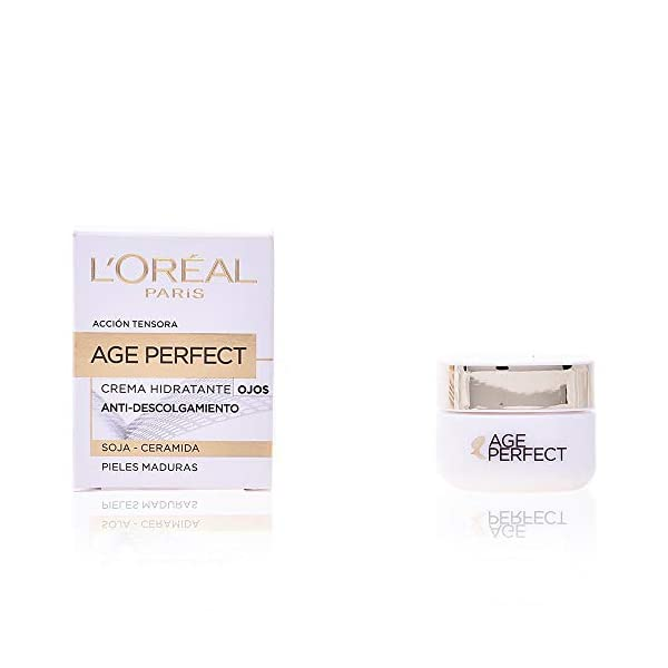 L'Oreal Paris – Age Perfect, crema hidratante de ojos, pieles maduras, 15ml