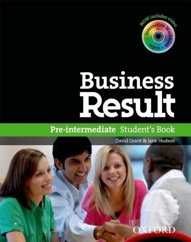 Business Result. Pre-intermediate Student's Book, Edition en anglais, avec 1 CD-ROM
