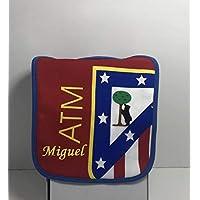 Babero Atlético de Madrid personalizado con nombre bordado
