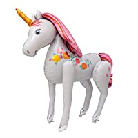 Party R Us Giant Freestanding Unicorn, Large Freestanding Unicorn Foil Balloon (116cm or 45inch)