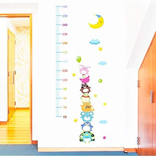 Atiehua Wandtattoos Cartoon Baby Höhe Maßnahme Lineal Wandaufkleber Wohnkultur Wohnzimmer...
