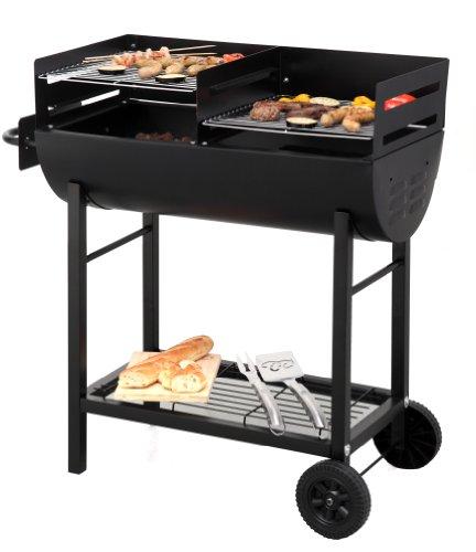 Tepro 1037″Detroit Barbecue a carbonella con trolley - 4