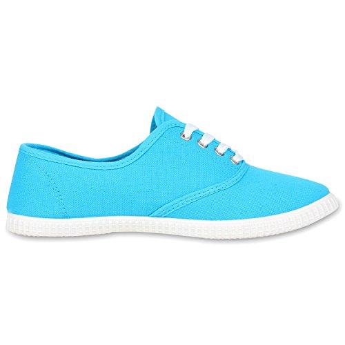 Basic Damen und Herren Sneakers | Komfortable Begleiter für jeden Tag| Bequeme Gummisohle |Gr. 36-45 Hellblau