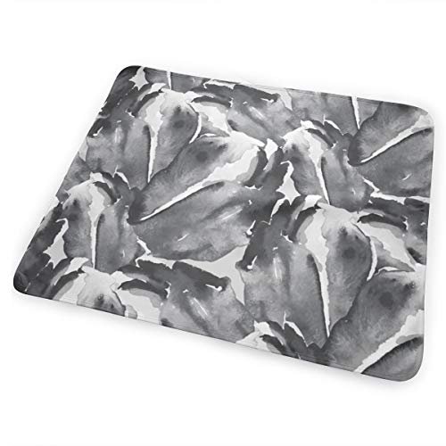 Black White Watercolor Floral Flower Tulip Abstract Miss Chiff Designs Bed Pad Washable Waterproof Urine Pads for Baby Toddler Children and Adults 31.5 X 25.5 inch - Tulip Magic