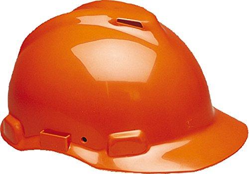 3M G22DO Peltor Schutzhelm G22, ABS, Helm Innenausstattung mit Leder SchWeißband und Pinnlock Verschluss, belüftet, Orange (Peltor Helm)