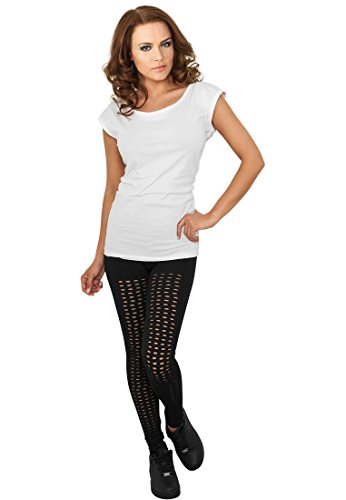 Urban Classics Ladies Leggings Cutted, Color:black;Größe:S