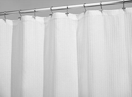 mDesign Tenda Doccia Morbida in Tessuto - 183 x 183 cm, Bianco
