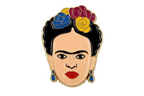 FunnyToday365 Frida Kahlo Pin de Esmalte Suave Insignia Joyería Arte Artista Regalo