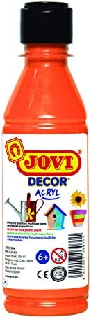 Jovi DECOR ACRYLIC BOTTLE OF 250ML ORANGE, 77 68006