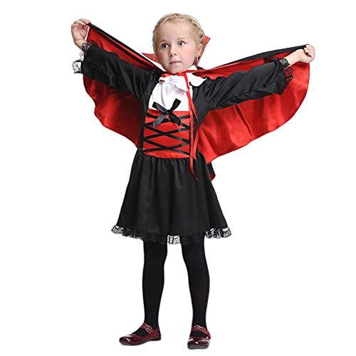 Kostüm Wicked Größentabelle - AUEDC Halloween Umhang, Vampir Cosplay Kostüm Set Theater Maskerade Stage Performance Festival Party Weihnachten für Kinder,L