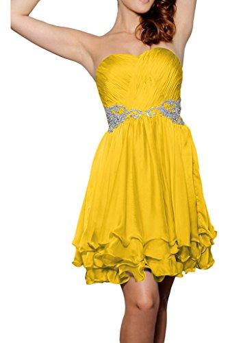 ivyd ressing cintura da donna Sweetheart scollo a cuore pietre breve party festa Prom abito abito sera vestito Oro
