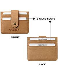 Genuine Leather Id Case||Credit Card Case||Debit Card Case||Card Holder||Business Card Case With Button Closure...