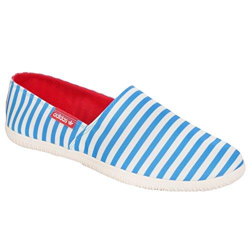 Adidas originals - espadrilla da uomo - in tela - blu/bianco - 40