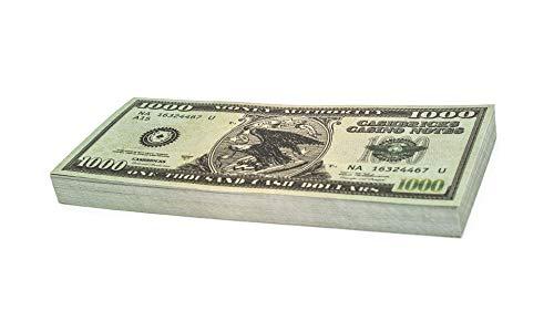100 Kostüm Dollar - Cashbricks 100 x $1.000 Dollar Spielgeld Scheine