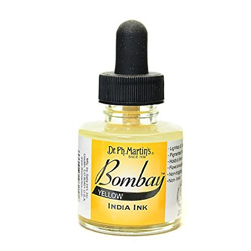 Dr Ph. Martin's Bombay India Ink, 1.0 oz, Yellow (1BY) -