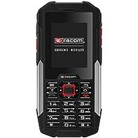Facom F200 Smartphone durci débloqué 3G/WiFi (Ecran: 2,4 pouces - 4 Go - Micro-SIM - IP68 - Android 4.2) Noir/Rouge [Pour les Professionnels]