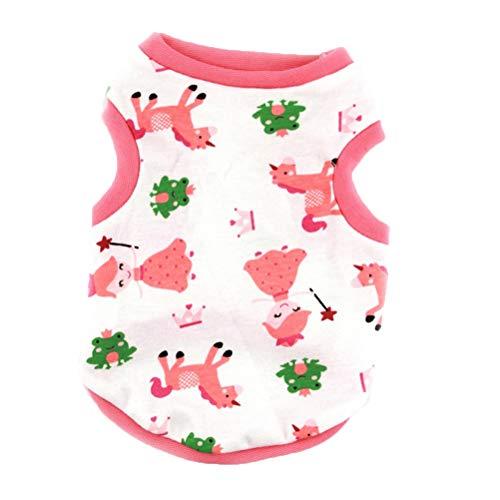 Feidaeu Haustier-Katzen-T-Shirt Entzückendes T-Shirt niedliches Karikatur-Muster Flexible atmungsaktive Weste für Teddy-Pudel-Haustier-Ausstattungs-Kleid