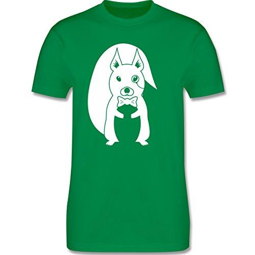 Hipster - Hipster Eichhörnchen - Herren Premium T-Shirt Grün