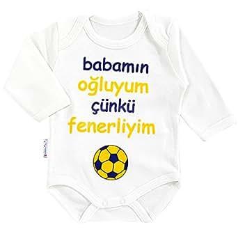 Fenerbahce Baby Body Fanatik Bebek Taraftar Tulum Größe 56 62 68 74 Fener NEU (74)