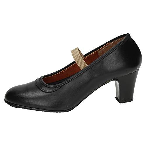 ZAPATOP 24 Baile Profesional NIÑA Zapatos TACÓN Negro 39