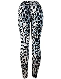 léopard Gym Pantalon Yoga Sport Femme ado Fille Legging Taille Haute Jogging  Cargo Slim Fitness Fluide 02fc8ae667a
