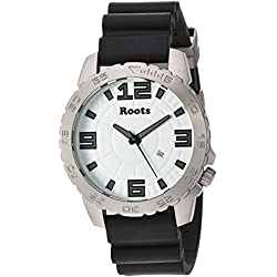 Roots Men's 'Core' Quartz Stainless Steel and Rubber Casual Watch, Color:Black (Model: 1R-LF600WH8B)
