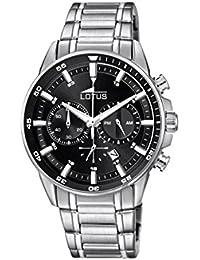 57c29310954b Lotus Reloj Cronógrafo para Hombre de Cuarzo con Correa en Acero Inoxidable  10133 4