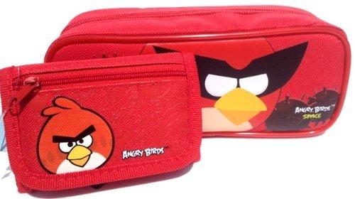 1x juego de Angry Birds bolsa de lápiz y tarjetero–gran regalo de cumpleaños para niños